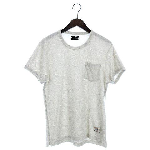 【中古】ティーエムティー TMT S/SL IZMIR COTTON PILE POCKET Tシャツ 半袖 パイル L ライトグレー 200821O