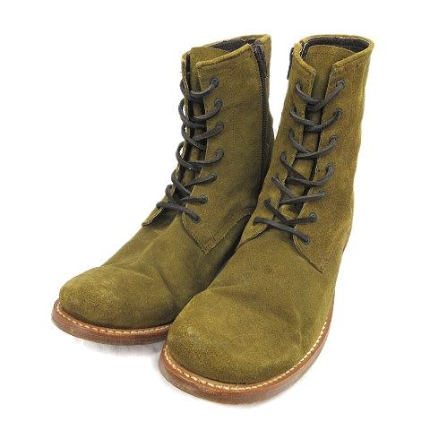 【中古】カミナンド caminando × メンズビギ MEN'S BIGI スエードレザー ショート ワーク ブーツ シューズ 靴 ★11