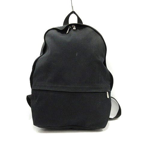 【中古】マリメッコ marimekko バッグ リュックサック デイパック キャンバス 黒 ブラック /YO19 レディース